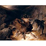 The Perfect effect Canvas of oil painting 'Sir Edwin Henry Landseer - Deer and Deer Hounds in a Mountain Torrent,1832' ,size: 8x10 inch / 20x26 cm ,this Vivid Art Decorative Canvas Prints is fit for dining Room artwork and Home gallery art and Gifts