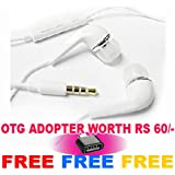 Extra Benefit Samsung Compatible Stereo Earphon in Ear Headset with Remote Control