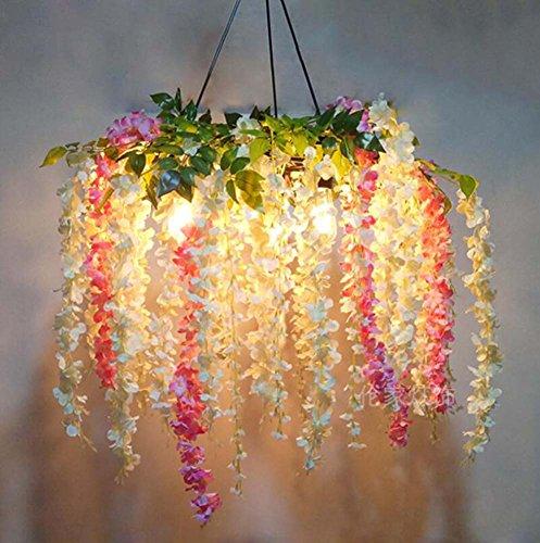 Blossom Pendant Lighting - Mamrar Flower Blossom Chandelier,Iron Simulation Plant Pendant Lamp, Theme Restaurant Cafe Pub Hanging Light Deco Lamps(Without Bulb),B