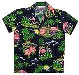#8: Hawaiian Shirts Boys Scenic Flamingo Beach Aloha Party Camp Holiday Casual