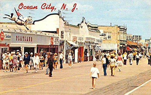 Ocean City New Jersey Boardwalk Store Fronts Vintage Postcard - Stores Ocean City