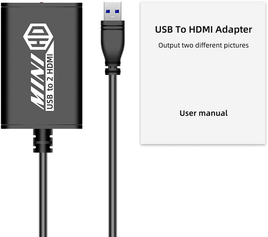 Adapters Accessories gaixample.org USB to Dual HDMI Adapter 2 port ...