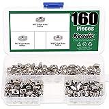 Keadic 160Pcs 2020 Series T Nuts, M3 M4 M5 Hammer Head Fastener Drop in T Slot Nut Assortment Kit with Organizing Box for Aluminum Profile - Carbon Steel Nickel Plated