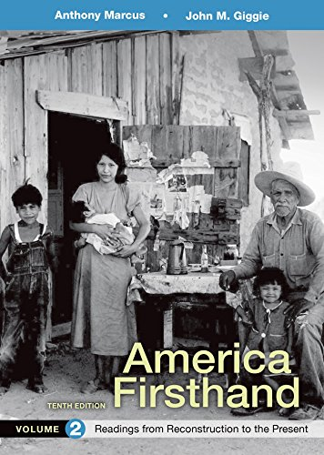 America Firsthand, Volume 2: Readings from Reconstruction to Present (America Firsthand Vol 2 compare prices)