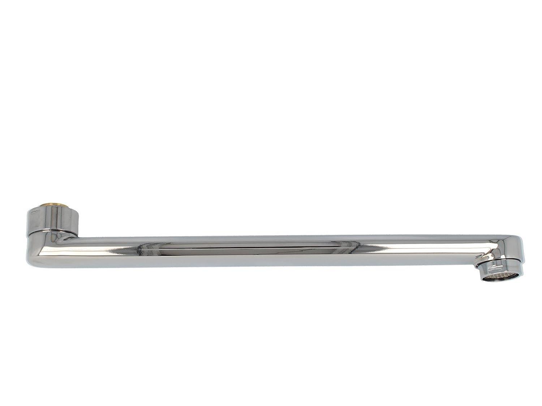 tecuro S-Auslauf f/ür Wand-Armaturen schwere Ausf/ührung 500 mm