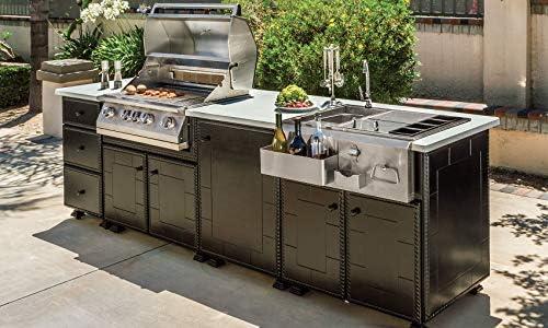 Outdoor Kitchen Large Beverage Center Island Kitchen With Napoleon Bipro500 665 Gas Grill 24 Inch Door Cabinet 36 X 31 5 X 114 Cm Amazon Ae