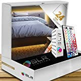 SLR Lighting LED Bed Lighting Soft Glow with Multi-Color Motion Activated Kit made for All Sizes(Twin/Full/Queen/King/Cal.King) Dimmable with Wireless Remote