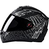 Steelbird Helmet SBA-1 Free Live (Medium 580MM, Black with Grey)