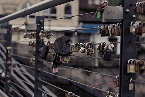 LAMINATED 36x24 inches POSTER: Love Locks Love Padlocks Love