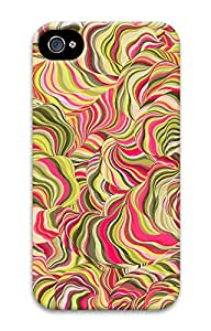 iPhone 4 4s Case, iPhone 4 4s Cases - Cool Psychedelic Colorful PC Polycarbonate Hard Case Back Cover for iPhone 4 4s