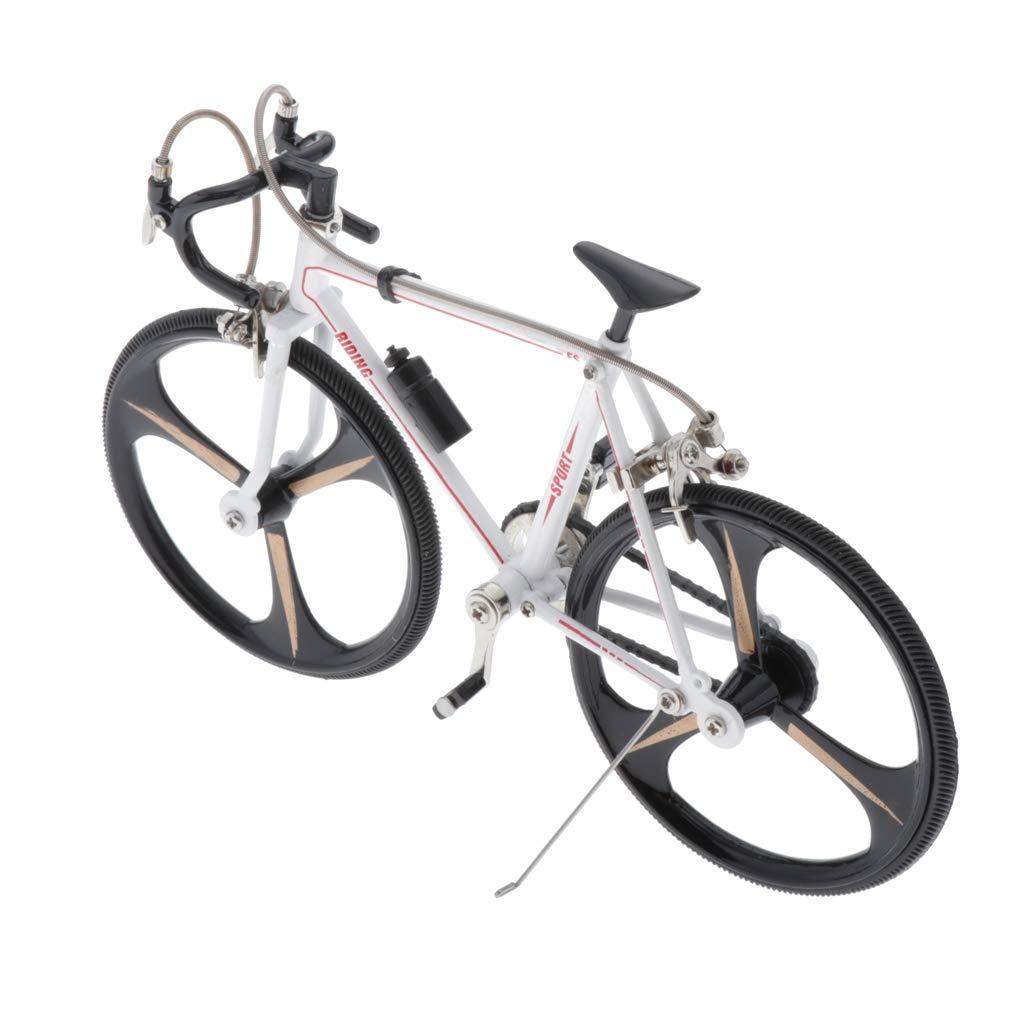 menolana 1/10 Scale Simulated Alloy Racing Bike Model Road Bicycle Vehicles Model Decoration DIY Accessories - Easy to Assemble - Style2 by menolana