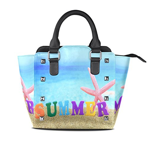 Leather Seashell Bags Tote TIZORAX Handbags Beach Summer Women's Shoulder zqEFIOwA