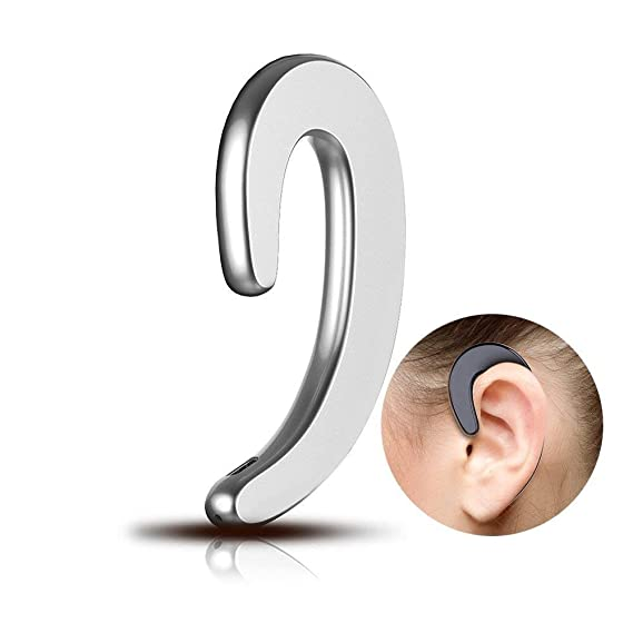 2e64a3a30b0 Image Unavailable. Image not available for. Color: Bluetooth Headset,Ear  Hook Wireless Business Earpiece ...