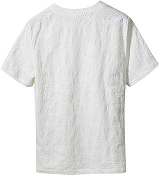 Vectry Multibolsillos Hombre Camiseta Hombre Azul Camisetas Manga ...