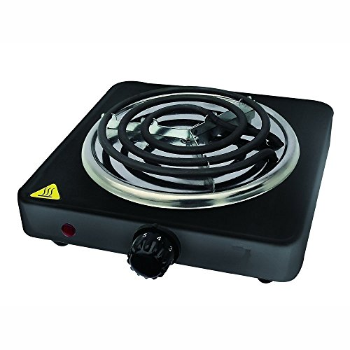 (Family Home 1000W Single Coiled Burner (Black))