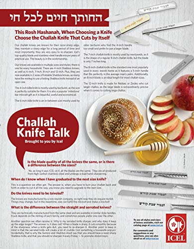High Carbon Stainless Steel Shabbat Kodesh Folding Knife, Narrow Style, Challah Knife by Discount hardware (Image #1)