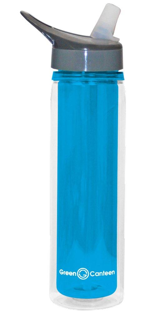 Green Canteen DWPTB-300-BL Double Wall Plastic Tritan Bottle 19-Ounce Blue