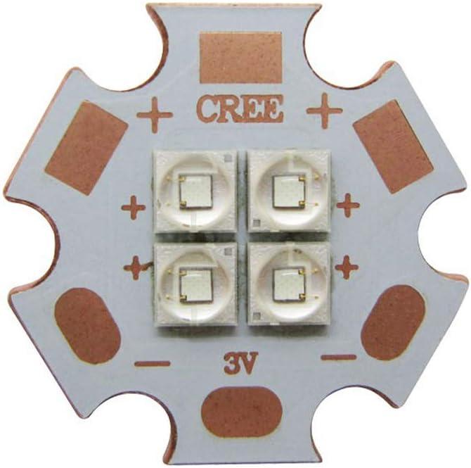 Nagulagu Cree 12W XPE2 XP-E2 4Chips 3V 350mA-4000mA Green 520NM-525NM LED Emitter 20mm Copper PCB for DIY LED Light