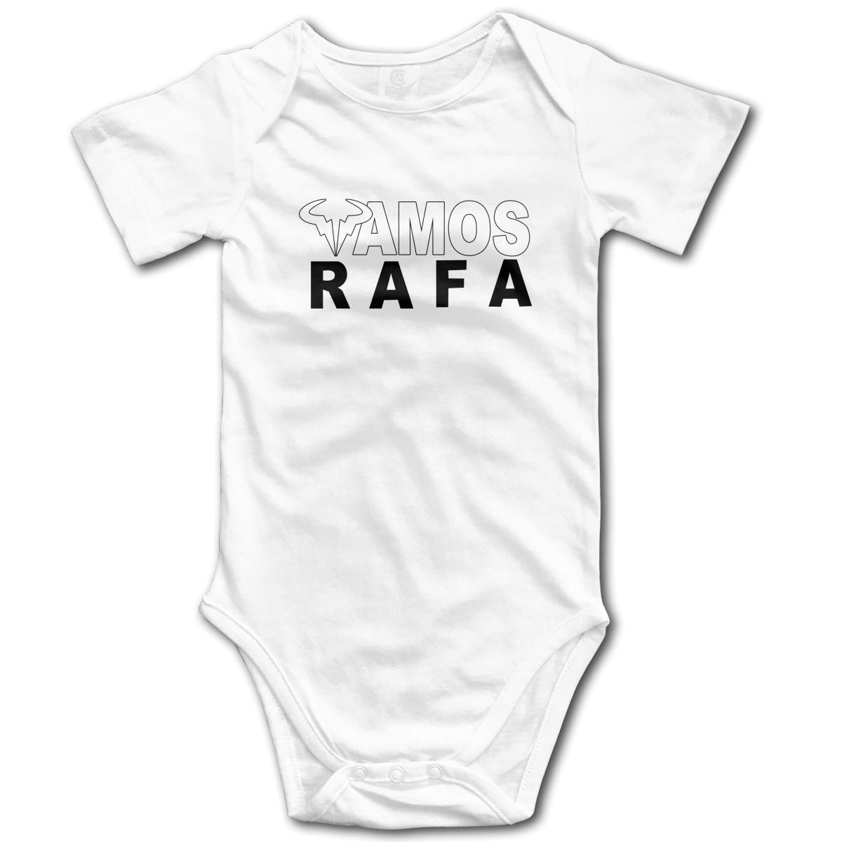 Koucas Baby Girls Boys RAFA Vamos Rafael Nadal Logo Kids Bodysuits Short Sleeve Cotton Tshirt T Shirt Tollder Clothes White 18M by Koucas