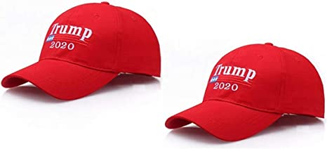 2x Trump 2020 Hat Embroidered Cap **2 PACK** MAGA Red Keep America Great
