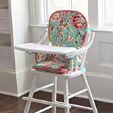 Carousel Designs Coral and Teal Floral High Chair Pad