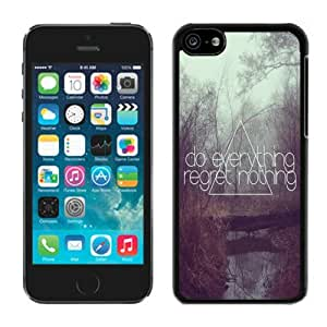 Trees Water Design TPU Iphone 5c Cases Do Everything Regret Nothing Black Soft Rubber Cover Cell Phone Accessories