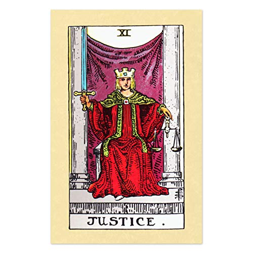 - The Masonic Exchange Justice Tarot Card Poster - 11