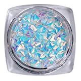 AB Color Nail Sequins Chameleon Triangle Star Iridescent Flakies Tips Manicure 3D Nail Art Decoration Pattern 7