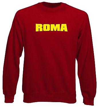 Speed Shirt Sudadera Gargantilla Hombre roja t0081 Roma Fútbol Ultras: Amazon.es: Ropa y accesorios