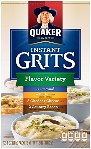 Quaker Instant Grits Flavor Variety, 12-Count Boxes (Pack of ()