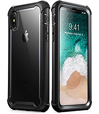 iPhone Xs Max Case, i-Blason [Ares] Full-Body Rugged Clear Bumper Case with Built-in Screen Protector for iPhone Xs Max 6.5 Inch (2018 Release)