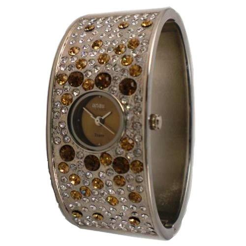 Anaii Pink AP 227 - topaz - Reloj analógico de mujer de cuarzo con correa plateada: Amazon.es: Relojes