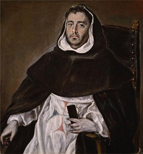 'El Greco,Portrait Of A Trinitarian Friar,ca.1609' Oil Painting, 20x21 Inch / 51x54 Cm ,printed On High Quality Polyster Canvas ,this Reproductions Art Decorative Canvas Prints Is Perfectly Suitalbe For Kids Room Decor And Home Decor And Gifts