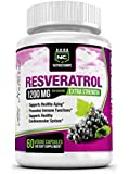 NutraChamps Resveratrol 1200mg Extra Strength - Best 100% Natural Formula for Maximum Anti-Aging, Immune System Support & Heart Health - 60 Capsules Enriched with Green Tea, Acai, & Grape Seed Extract