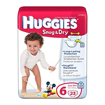 Amazon.com: Huggies Snug and Dry Diapers - Size 6 - 23 ct: Health ...