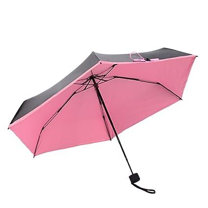 Paraguas plegable cortavientos paraguas plegable de viaje irrompible resistente al viento lluvia 5 Pliages decorativo Mini