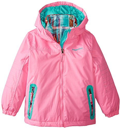 Rugged Bear Little Girls' Systems Coat with Plaid Jacket, Sugar Plum,4