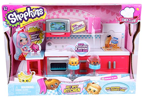 NEW Shopkins Chef Club Hot Spot Kitchen Playset Gift For Gir