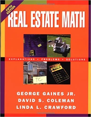 Book Real Estate Math: What You Need to Know by Gaines, George, Coleman, David, Crawford, Linda (2005)
