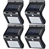 Image of Solar Wall Lights 16 LED 6500K Outdoor Solar Powerd, Wireless Waterproof Security Motion Sensor Light for Porch/Patio/Deck/Yard/Garden/Driveway/Outside Wall (Black, 4 PACK)