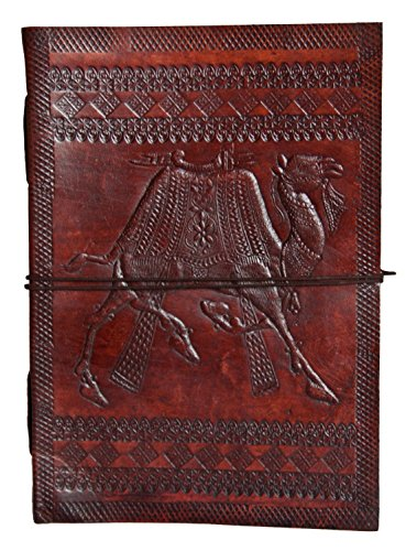 Leather Fair Trade - SKH57 Fair Trade Handmade Indra Camel Leather Journal Notebook Diary