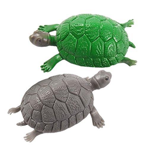 DealMux 2 peças de plástico Fish Tank Tartaruga decoração do ornamento Set, verde / ()