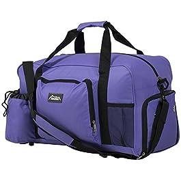 Andes 40 Litre Sports Gym Travel Bag Shoulder Holdall Luggage, Includes Shoe Pocket, Drinks Pocket Adjustable Shoulder Strap