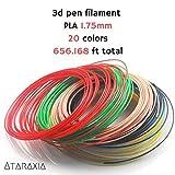 3D Pen Filament (656.17 ft), 1.75mm PLA Filament