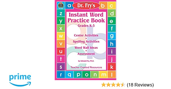 Amazon com: Instant Word Practice Book, Grades K-3: Center