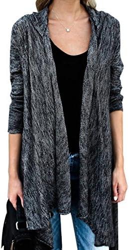 LookbookStore Womens Boho Knitted de manga larga Frente Abierto Tassel Suéter chaqueta de punto