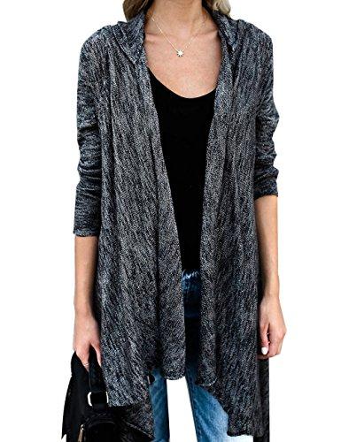 Lookbook Store LookbookStore Womens Boho Long Sleeve Knitted Open Front Tassel Sweater Cardigan … Hooded Ribbed Cardigan