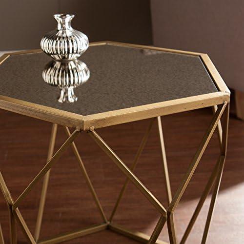 SEI Furniture Geometric Accent End Table