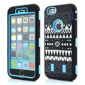 SOL Tribal Pattern Silicone Cover for iPhone 6 Plus(Assorted Colors) , Yellow