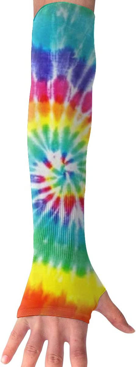 SHEERY Arm Cooling Sleeves Tye Dye UV Sun Protection Arm Cover Hand Covers